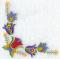 """Мастерская """"Православное узорье"""", вышивка: Стилизованный прямоугольный узор из тюльпанов, вышитый по углу изделия."""