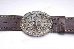 Пояс мужской - Царский вензель Николая II