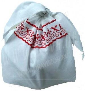 Вышитая пасхальная салфетка для кулича -7770