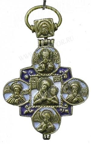 Православный нательный крест-мощевик №0-54