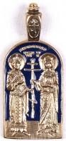 Православный нательный образок: Свв. Равноапостольные Владимiр и Ольга -1