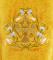 """Вышитое русское иерейское облачение """"Византийский орёл"""" (жёлтое, деталь)"""