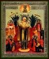"""Икона: образ Пресвятой Богородицы  """"Всех скорбящих Радость"""" (с грошиками)"""