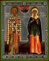 Икона: Св. священномученик Киприан и Святая мученица Иустина