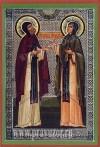 Икона: Свв. преподобные схимонахи Кирилл и Мария, родители преподобного Сергия