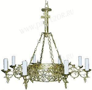 Одноярусное церковное паникадило (хорос) -4 (8 свечей)