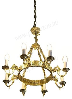 Одноярусное церковное паникадило (horos) -5 (8 свечей)