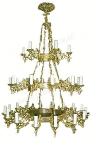 Трёхъярусное церковное паникадило (horos) -1 (34 свечей)