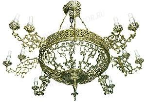 Одноярусное церковное паникадило (horos) -12 (16 свечей)