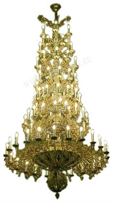 Семиярусное церковное паникадило - 2 (91 свеча)