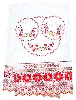 Вышитый венчальный рушник -1