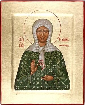 Икона: Блаж. Матрона Московская