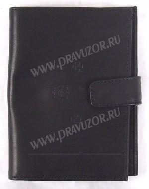 Бумажник из натуральной кожи с кнопкой - 2