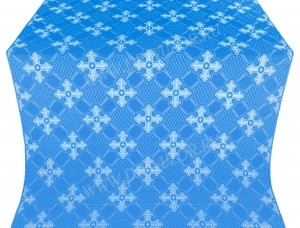 """Шёлк """"Подольск"""" (синий/серебро)"""