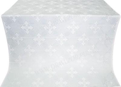 """Шёлк """"Подольск"""" (белый/серебро)"""
