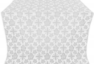 "Парча ""Ажурный крест"" (белая/серебро)"