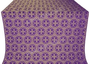 """Шёлк """"Пасхальный крест"""" (фиолетовый/золото)"""