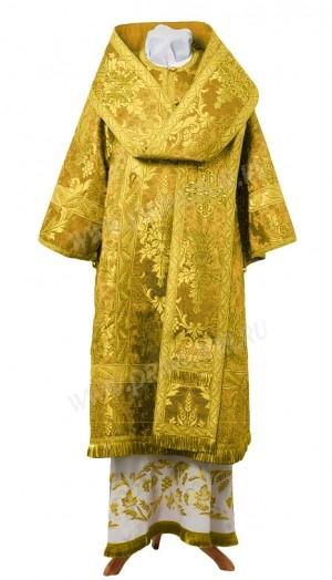 Архиерейское облачение из парчи ПГ4 (жёлтый/золото)