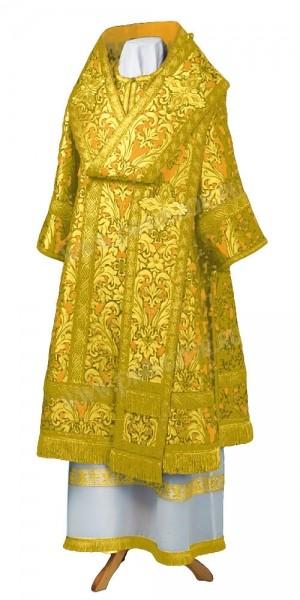 Архиерейское облачение из парчи ПГ5 (жёлтый/золото)