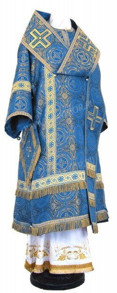 Архиерейское облачение из шёлка Ш2 (синий/золото)