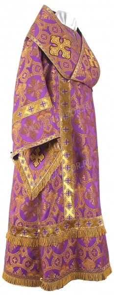 Архиерейское облачение из шёлка Ш2 (фиолетовый/золото)