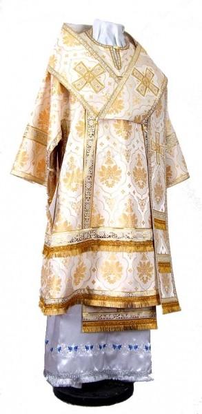 Архиерейское облачение из шёлка Ш2 (белый/золото)
