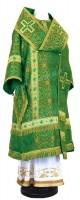Архиерейское облачение из шёлка Ш3 (зелёный/золото)