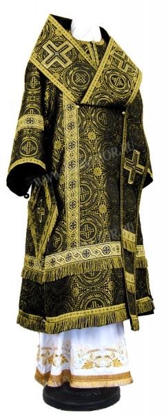 Архиерейское облачение из шёлка Ш4 (чёрный/золото)