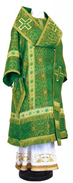 Архиерейское облачение из шёлка Ш4 (зелёный/золото)