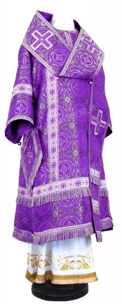 Архиерейское облачение из шёлка Ш4 (фиолетовый/серебро)