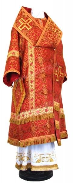 Архиерейское облачение из шёлка Ш4 (красный/золото)