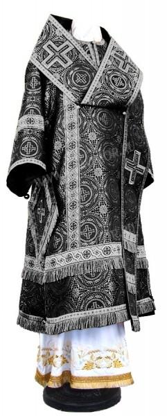 Архиерейское облачение из шёлка Ш4 (чёрный/серебро)