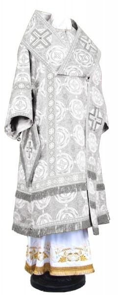 Архиерейское облачение из шёлка Ш4 (белый/серебро)