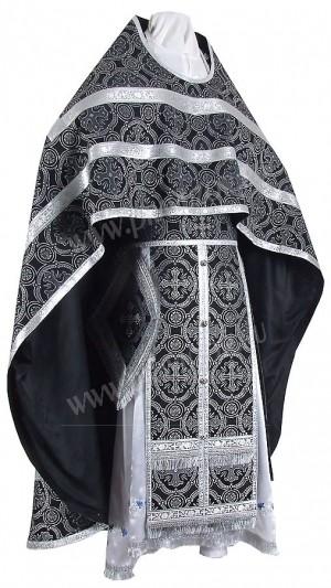 Иерейское русское облачение из парчи П (чёрный/серебро)