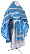 Иерейское русское облачение из парчи ПГ1 (синий/серебро)