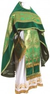 Иерейское русское облачение из парчи ПГ5 (зелёный/золото)