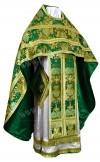 Иерейское русское облачение из парчи ПГ6 (зелёный/золото)