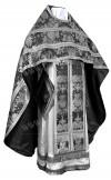 Иерейское русское облачение из парчи ПГ6 (чёрный/серебро)