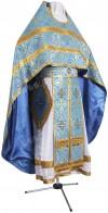 Иерейское русское облачение из шёлка Ш2 (синий/золото)