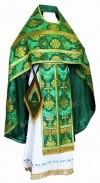 Иерейское русское облачение из шёлка Ш2 (зелёный/золото)