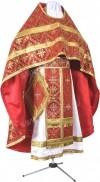 Иерейское русское облачение из шёлка Ш3 (красный/золото)