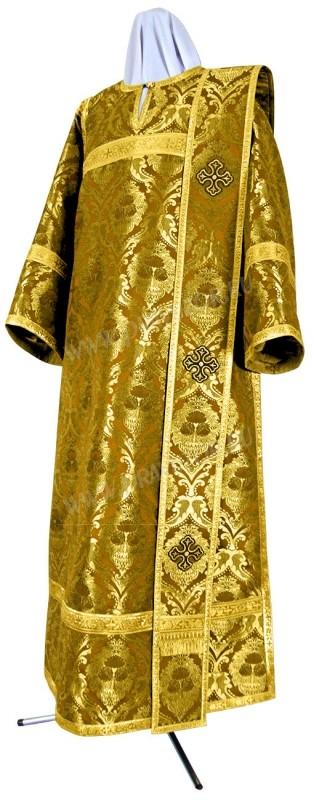 Дьяконское облачение из парчи ПГ4 (жёлтый-бордо/золото)