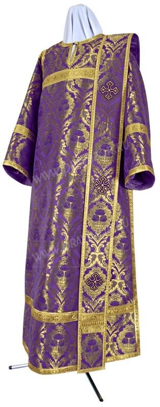 Дьяконское облачение из парчи ПГ4 (фиолетовый/золото)
