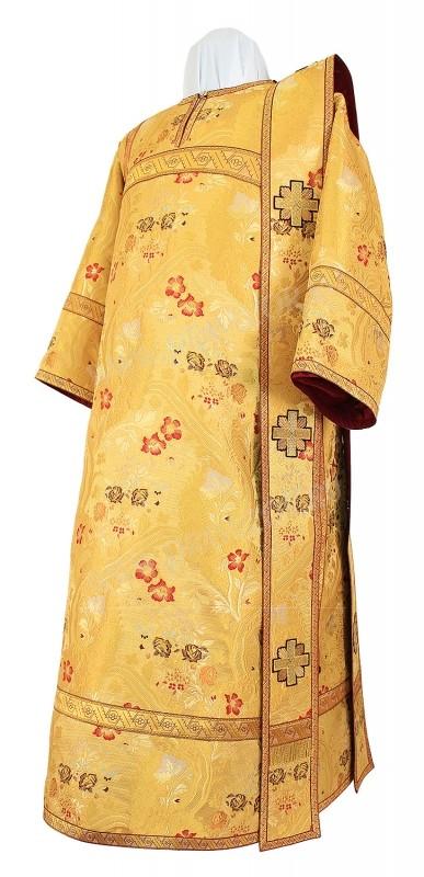 Дьяконское облачение из парчи ПГ5 (жёлтый/золото)