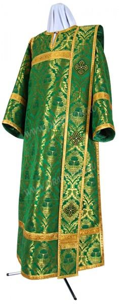 Дьяконское облачение из парчи ПГ6 (зелёный/золото)