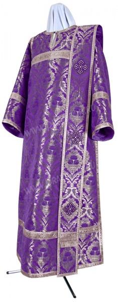Дьяконское облачение из парчи ПГ6 (фиолетовый/серебро)
