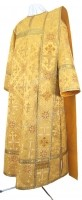 Дьяконское облачение из шёлка Ш3 (жёлтый-бордо/золото)