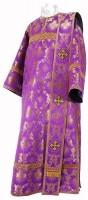 Дьяконское облачение из шёлка Ш3 (фиолетовый/золото)