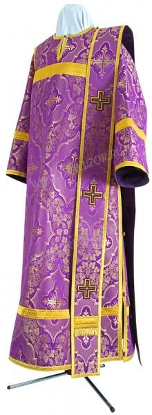 Дьяконское облачение из шёлка Ш4 (фиолетовый/золото)