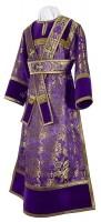 Иподьяконское облачение из парчи ПГ3 (фиолетовый/золото)